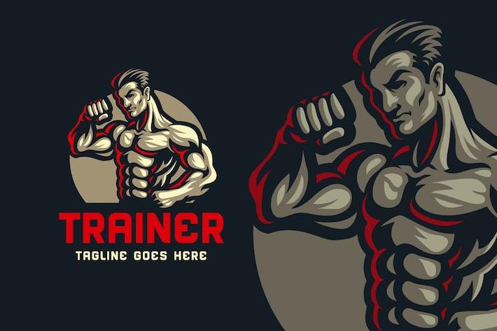 Thumbnail for Body Builder Logo Template 02