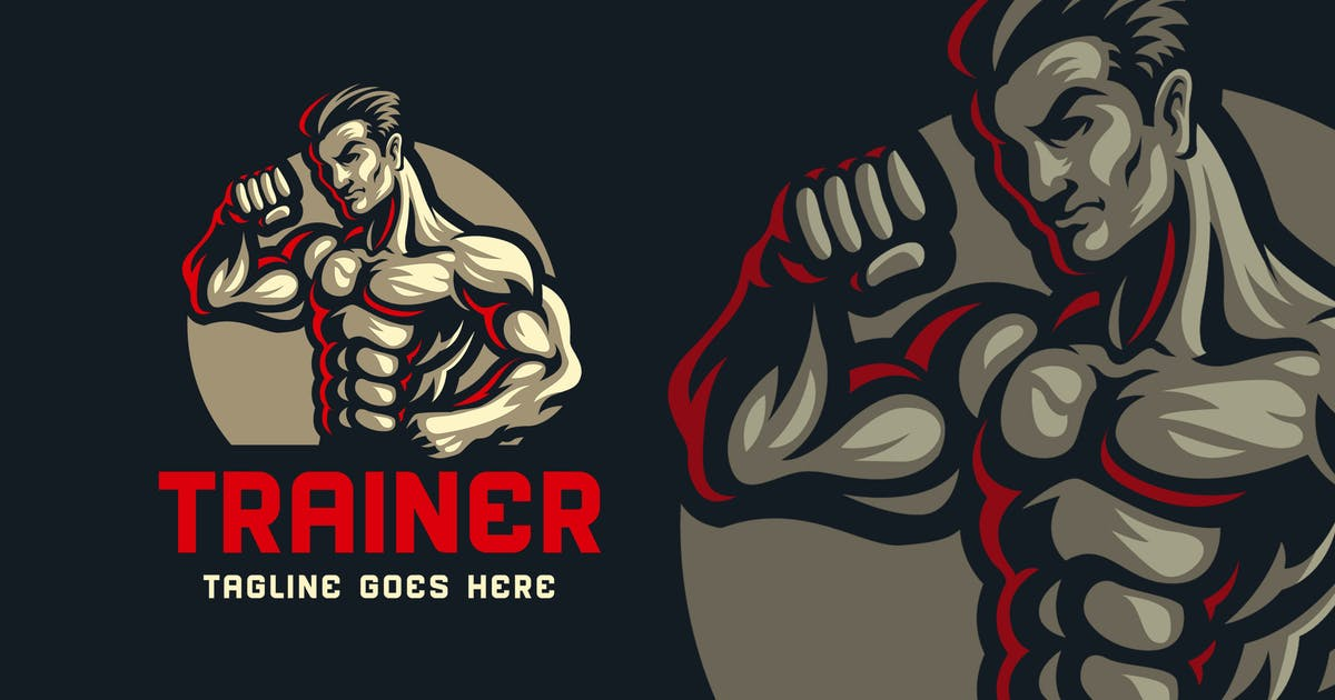 Download Body Builder Logo Template 02 by Blankids