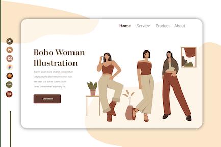Boho Woman Vol 12 - Landing Page Template
