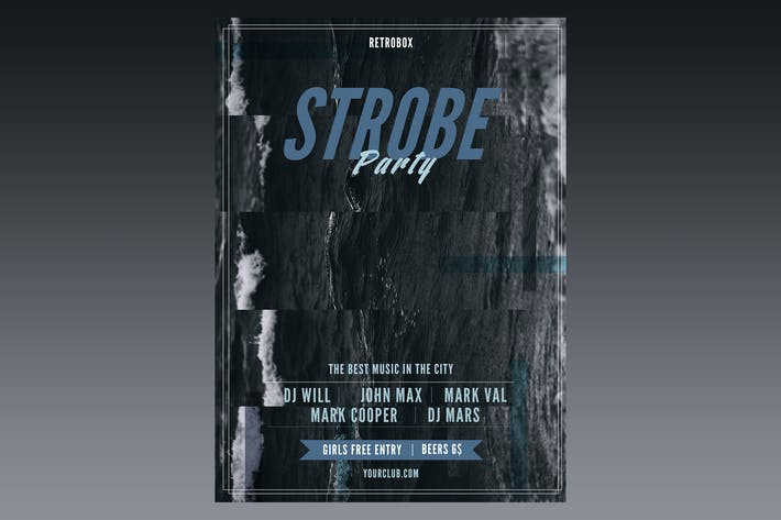 Thumbnail for Poster de dépliant de fête stroboscopique