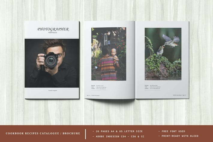 Photography Portfolio or Photo Album Template
