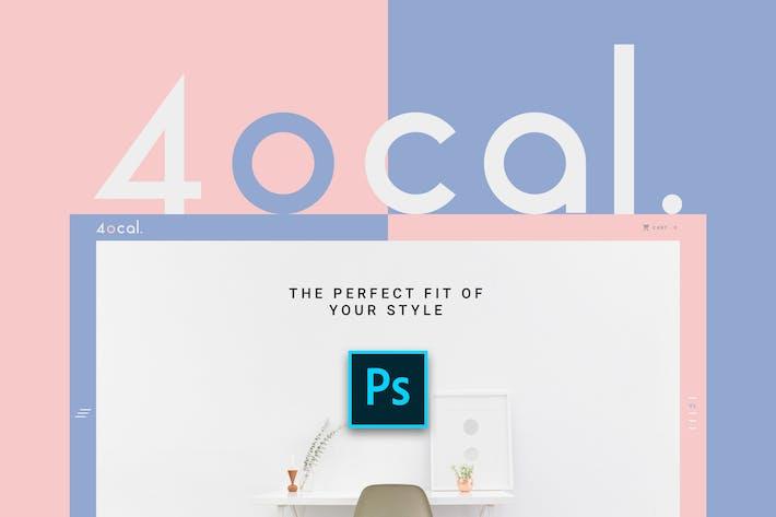 Thumbnail for 4ocal Web UI Kit for Photoshop