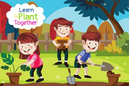 Learn to plant - Illustration