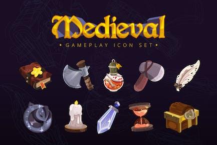 Medieval Gameplay Icon Set