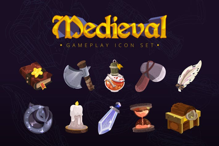 Thumbnail for Medieval Gameplay Icon Set