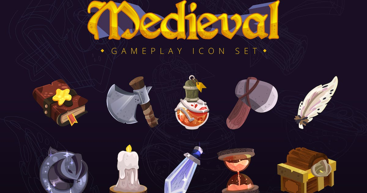 Download Medieval Gameplay Icon Set by Unknow