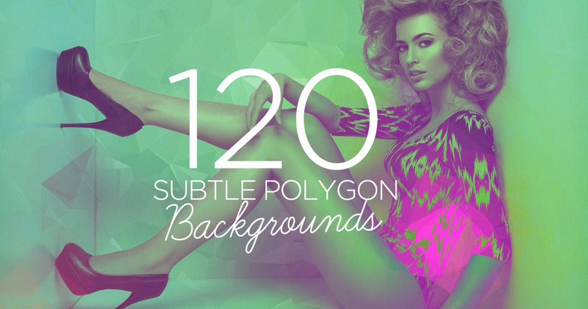 120 Subtle Polygon Backgrounds by Layerform