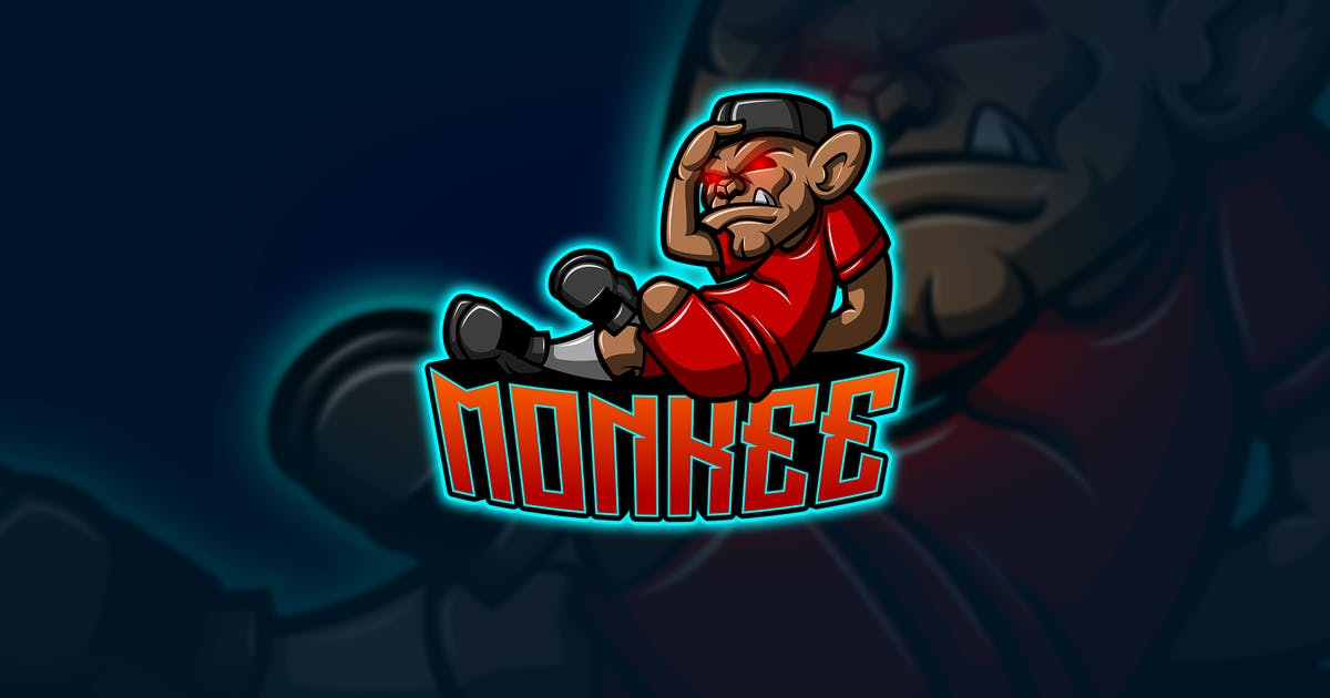 Download Monkee - Mascot & Esport Logo by aqrstudio