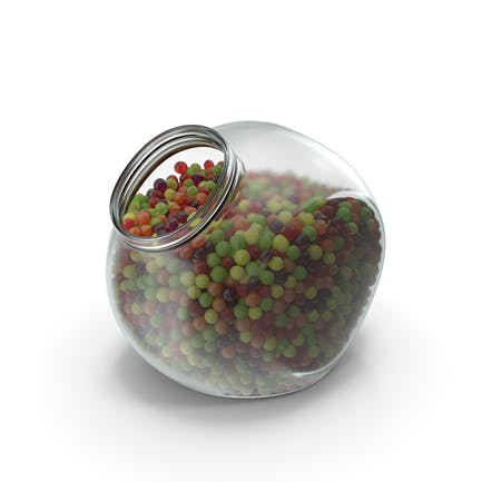 Spherical Jar with Spherical Hard Candy