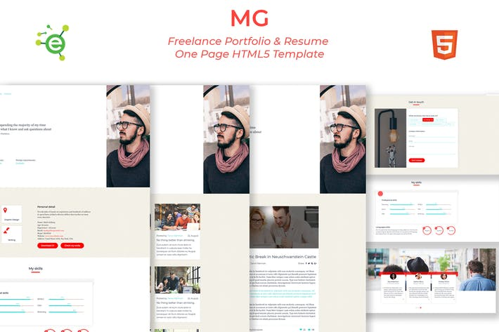 Thumbnail for MG - Portfolio and Resume HTML5 Template