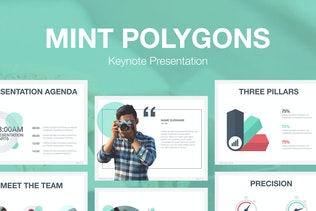 Download 530 keynote presentation templates on envato elements mint polygons keynote template pronofoot35fo Choice Image