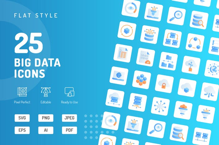 Thumbnail for Big Data Flat Icons