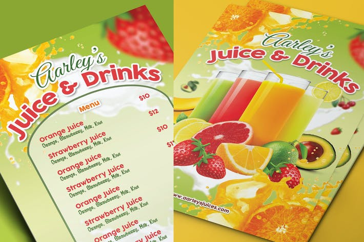 Thumbnail for Menu de jus de fruits