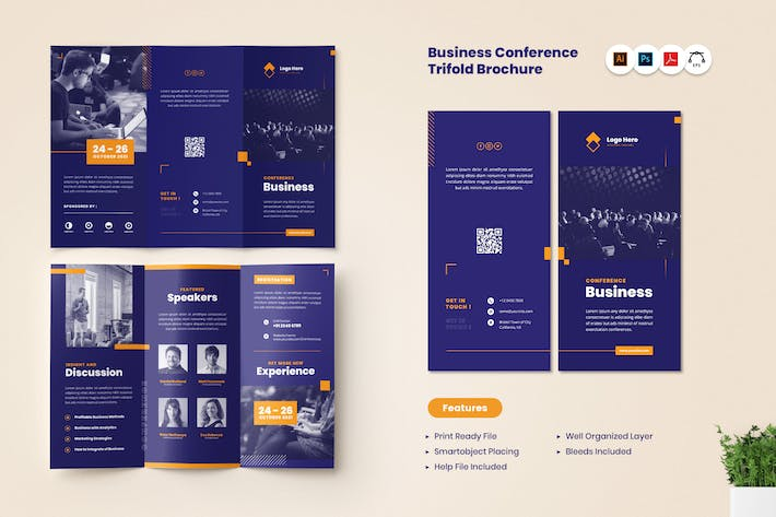 Thumbnail for Business Conference Trifold Brochure