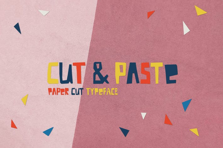 Thumbnail for Cut And Paste Paper Cut Typeface