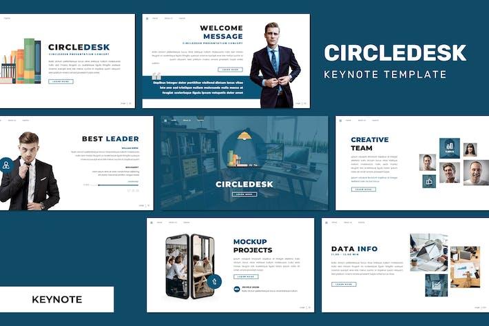 Thumbnail for Circledesk - Business Keynote Template