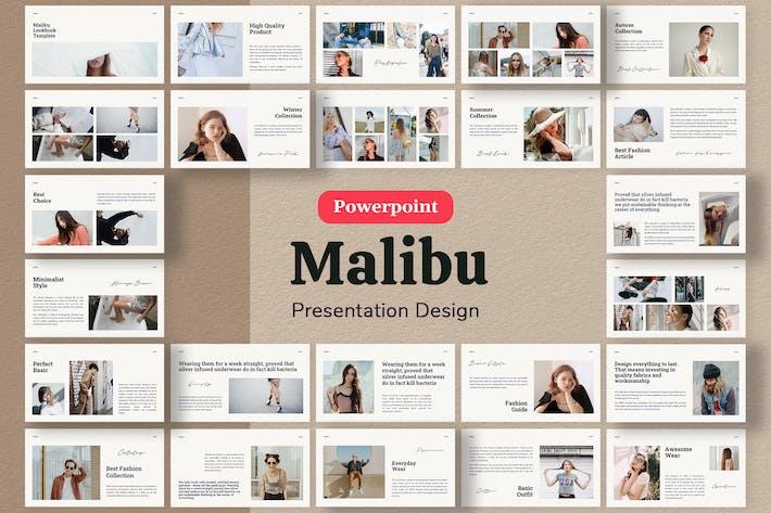 Thumbnail for Malibu - Шаблон презентации Лукбук Powerpoint