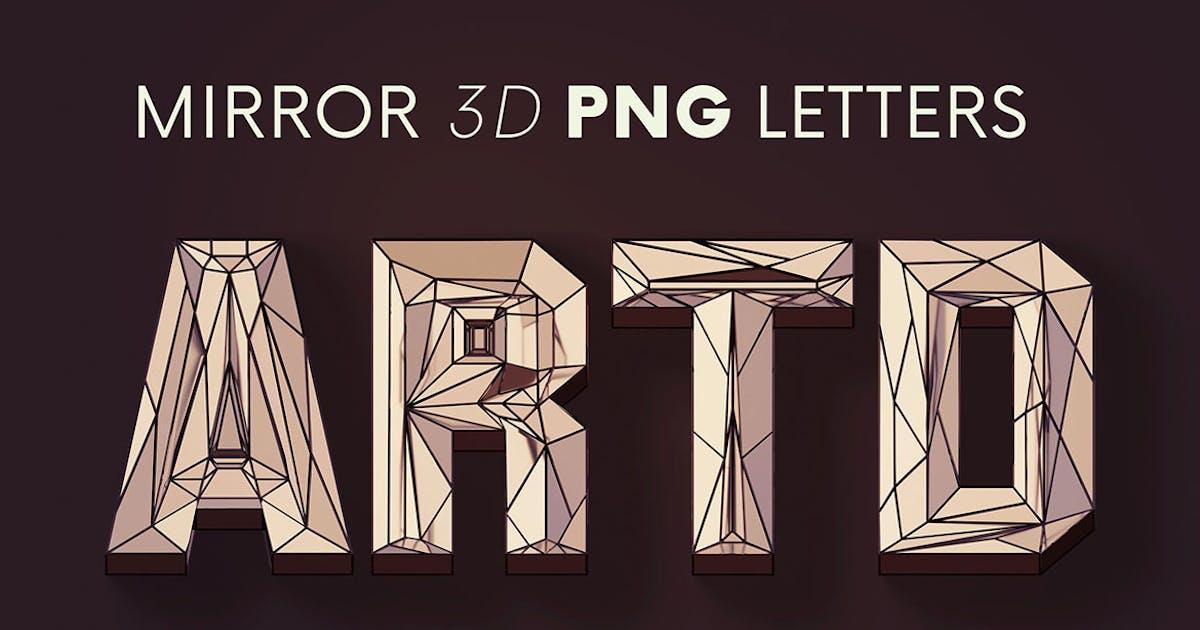 Download Artdeco Mirror - 3D Lettering by cruzine