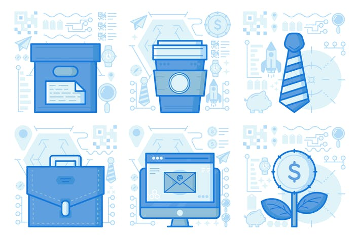 Office Supplies UI UX Illustrations