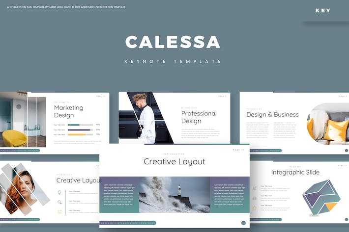 Thumbnail for Calessa - Keynote Template