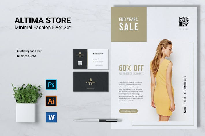 Thumbnail for ALTIMA Fashion Store Flyer & Business Card
