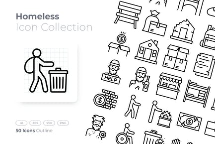 Homeless Outline Icon