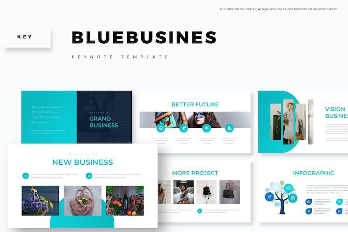 Thumbnail for Синий бизнес - Шаблон Keynote