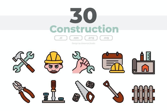 40 Bau-Icons