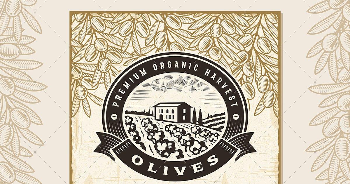 Download Vintage Olive Harvest Label by iatsun