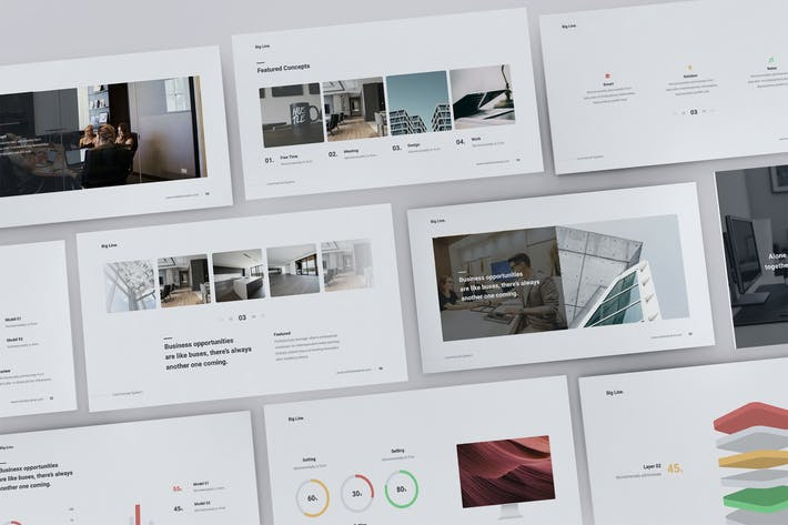 Thumbnail for BIG LINE - Business Template (KEY)