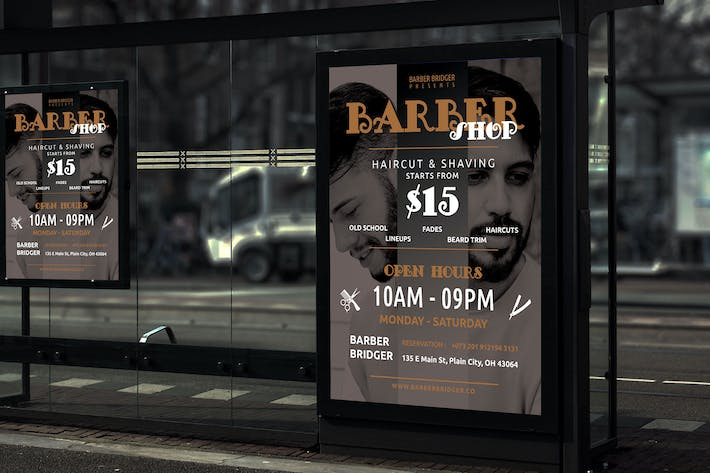 Thumbnail for Beard - Barbershop Promotion Poster RY