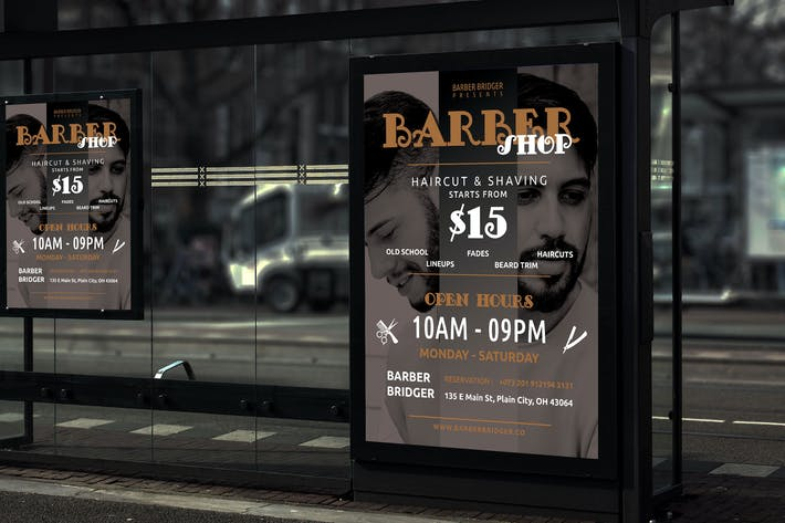 Cover Image For Beard - Barbershop Promotion Poster RY