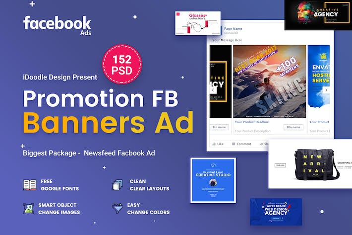 Thumbnail for Promotion Facebook Ads - 152PSD