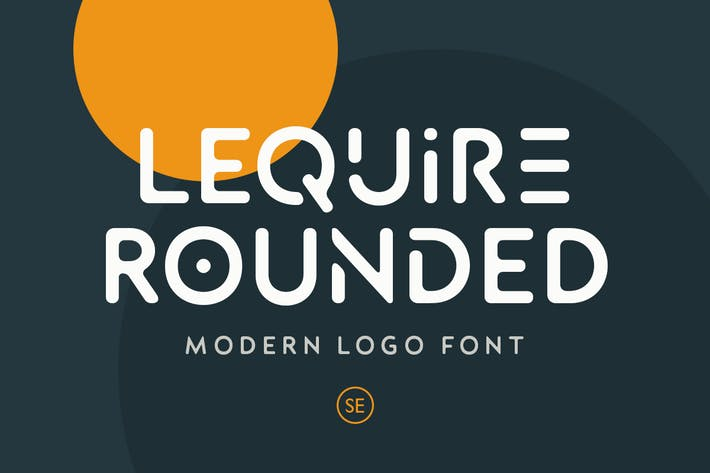 Thumbnail for Lequire Arrondi - Police Logo Moderne