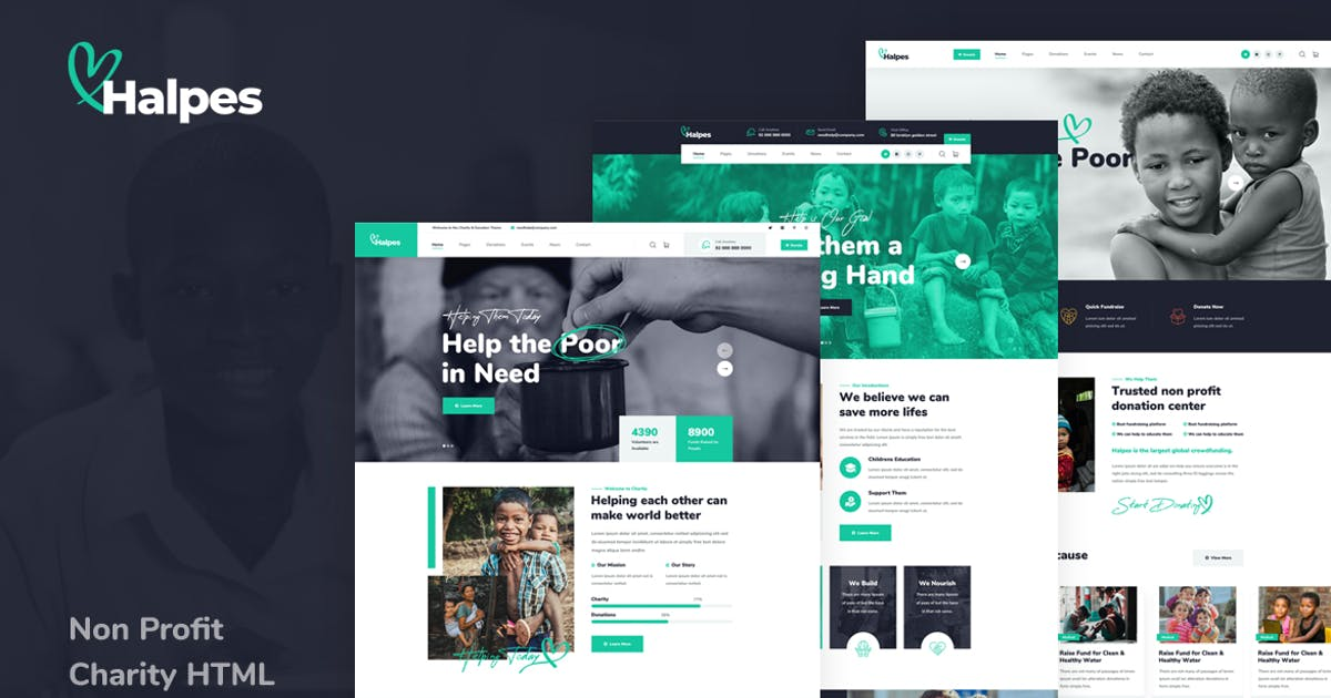 Download Halpes - Non Profit Charity HTML Template by Layerdrops