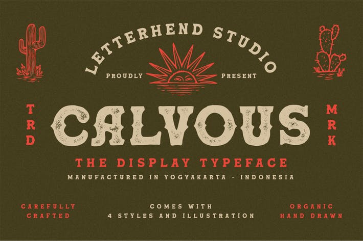Thumbnail for Calvous - Slab Serif Typeface
