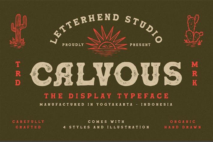 Thumbnail for Calvous - Slab Con serifa Tipo de letra