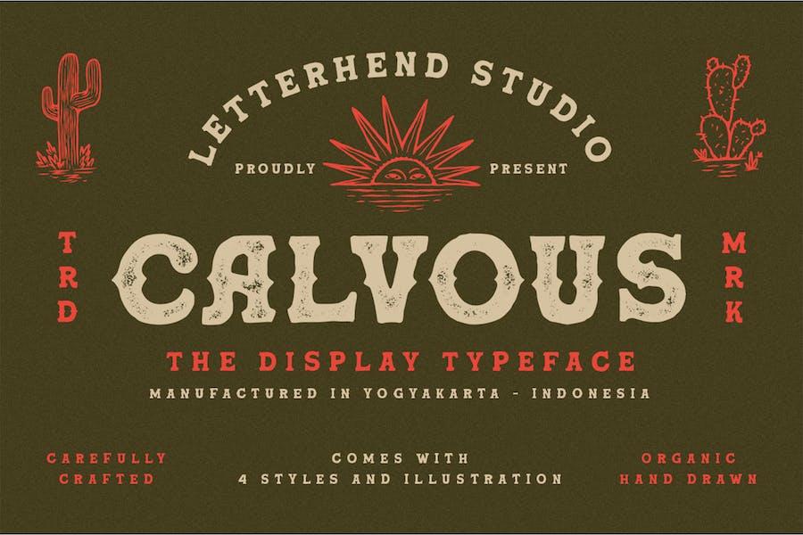 Calvous - Slab Serif Typeface