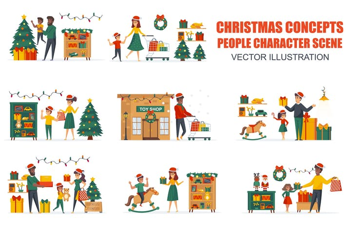 Thumbnail for Toys Store Christmas People Character Scenes