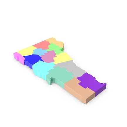 Карта округов Вермонт