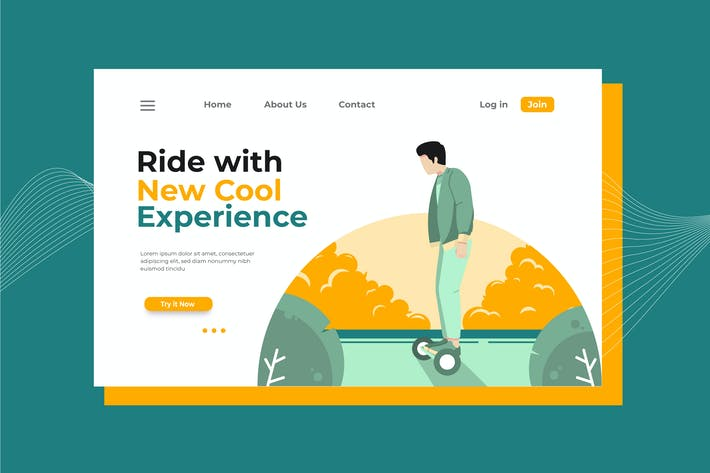 Ride with New Cool Experience Landing Page