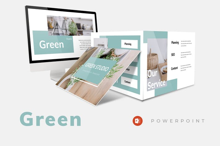 Thumbnail for Green Studio - Powerpoint Presentation
