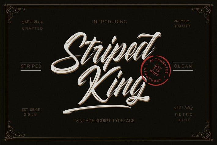 Thumbnail for Striped King Vintage Script