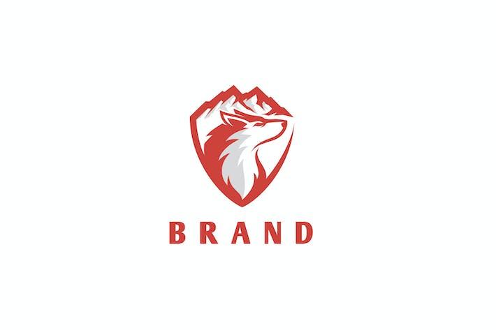 Fox And Mountain Adventure Logo Design