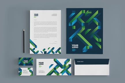Cool Modern Colorful Stationery