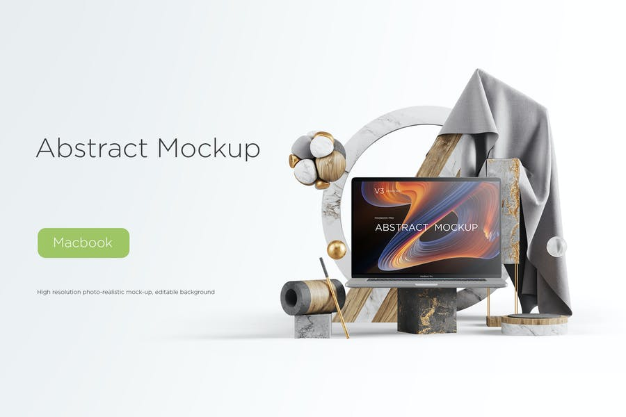 Abstract Mockup Macbook Pro Max vol.03