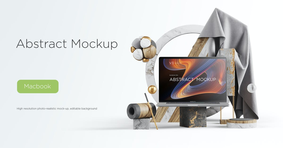 Download Abstract Mockup Macbook Pro Max vol.03 by TIT0