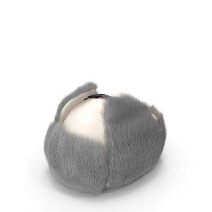 Trapper Winter Hat White Fur
