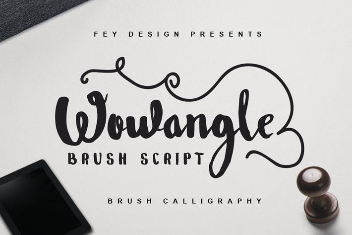 Thumbnail for Wowangle - Brush Font