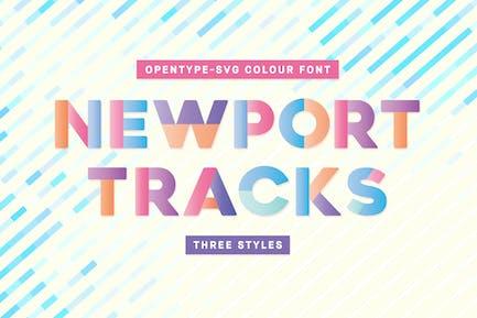 Newport Tracks - Colour Font